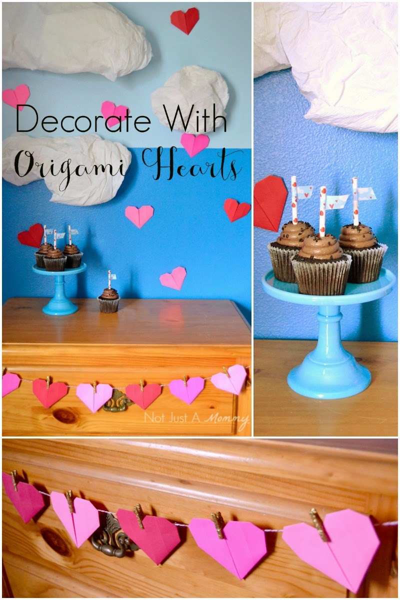 Decorate With Origami Hearts for Valentine's Day