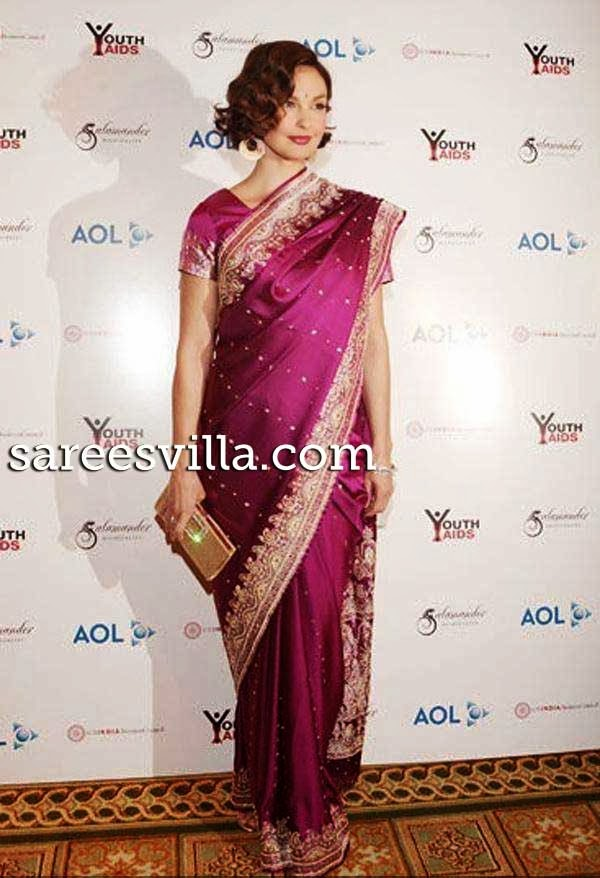 Ashley Judd in saree