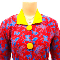 DBT2566 - Baju Bluse Batik Wanita Terbaru 2013
