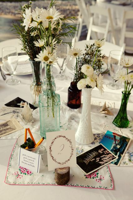 texas wedding vintage centerpieces