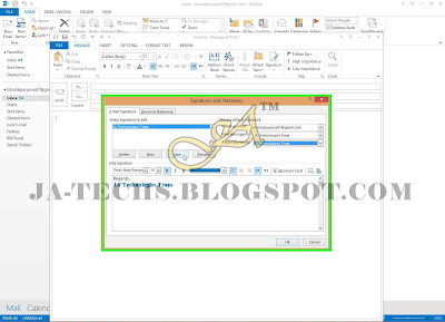 Auto Add Signature in MS Outlook Emails - Step 8