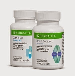 Joint Support Advance và Xtra Cal Advance của Herbalife