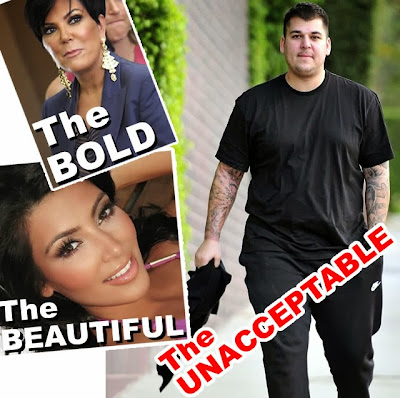 Rob Kardashian too ugly and fat for family no wedding invite