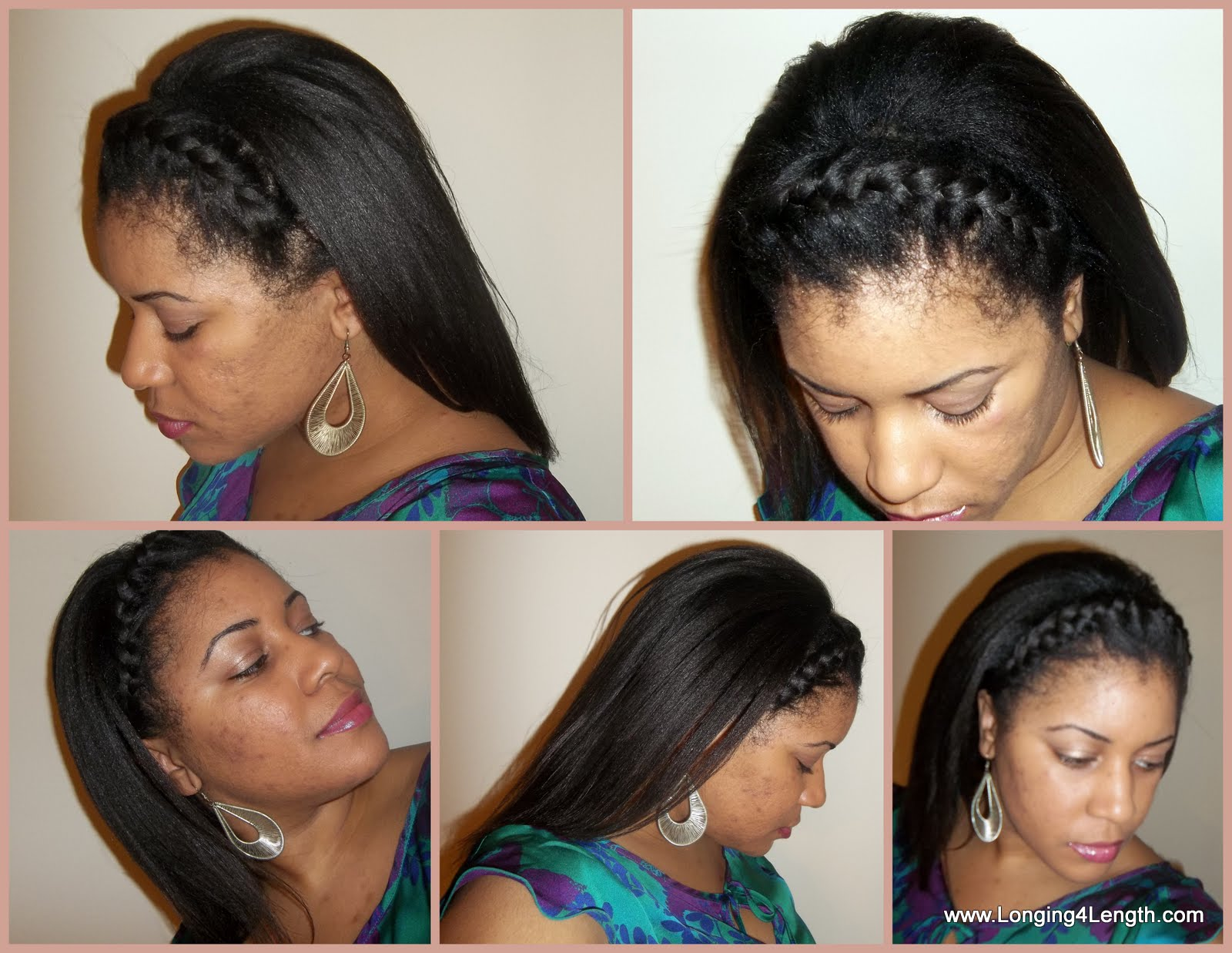 2 french braids with extensions
