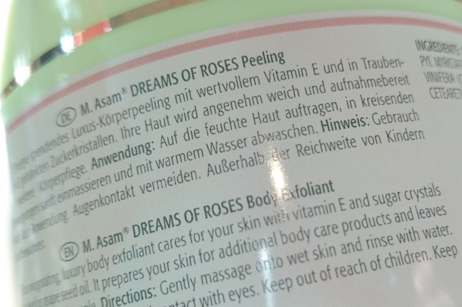Produkttest M. Asam Dreams of Roses Peeling