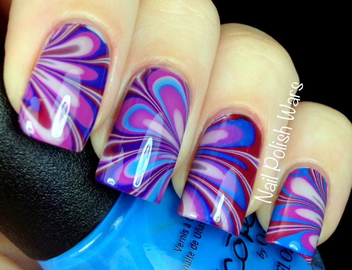 Nail polish wars my fave 15 nail art designs of 2012 this is without a doubt my favorite water marble creation so far and i cant even lie it took forever i was so picky about the design formations on prinsesfo Gallery