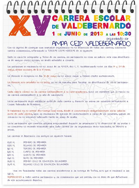 Carrera CEIP Valdebernardo - bases