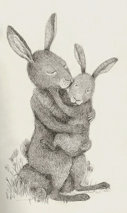 hare mother and child - yara dutra