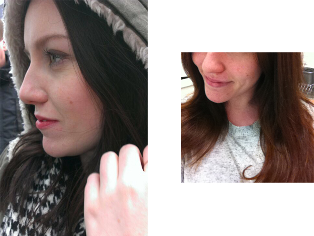 loreal color zap before and after brown hairs