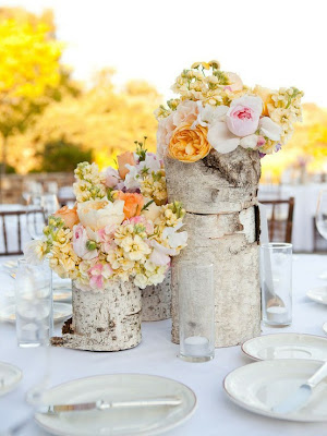 orlando rustic wedding centerpiece