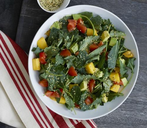 Massaged Kale Salad with Hemp Seeds from Super Seeds
