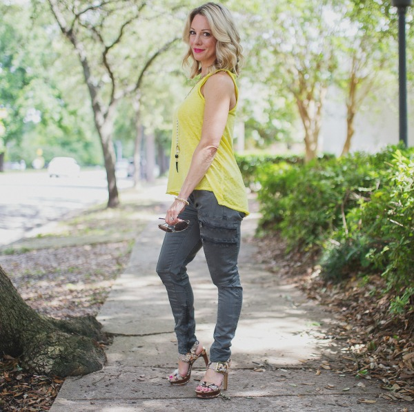 Weekend Steals & Deals | Summer Fashion Outfits - military pants + tank