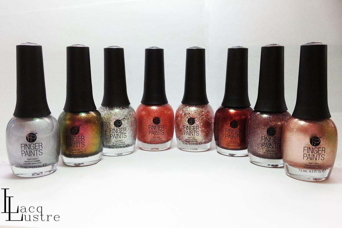 New Core Finger Paints Swatches & Comparisons