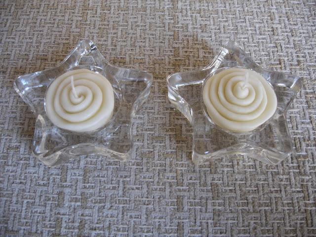 Velas decorativas em biscuit