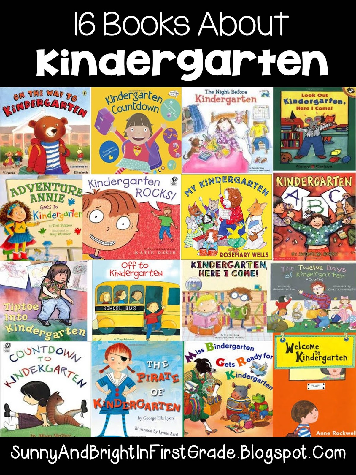 Books About Kindergarten Sunny And Bright In Primary