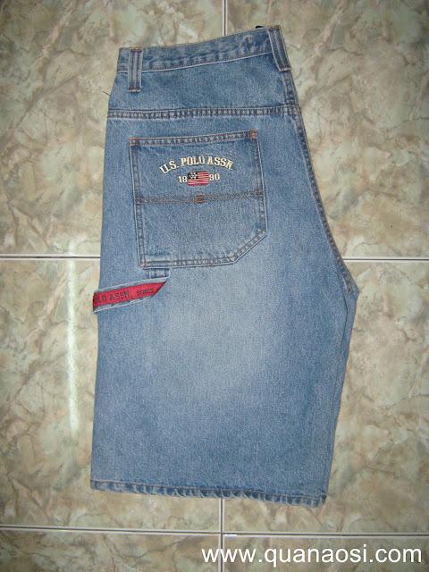 Quần short jean xanh U.S POLO ASSN
