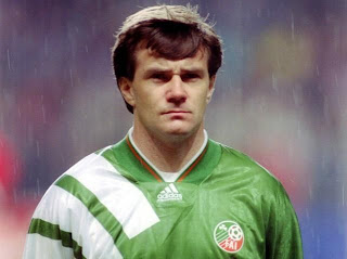 The great Ray Houghton during his playing days for Ireland.