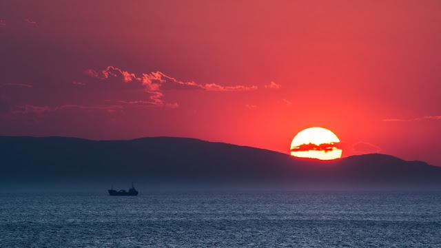 Sunset Evian Gulf Greece HD Wallpaper