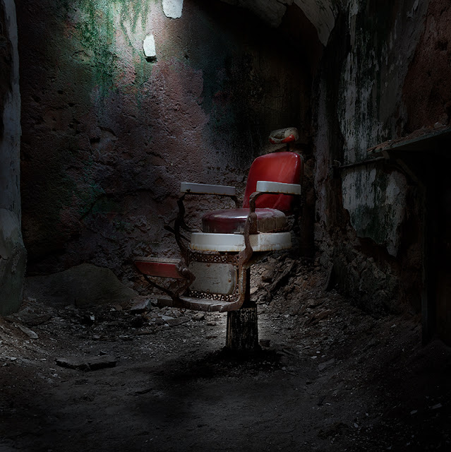 eastern state penitentiary, chair, HDR,light, abandoned