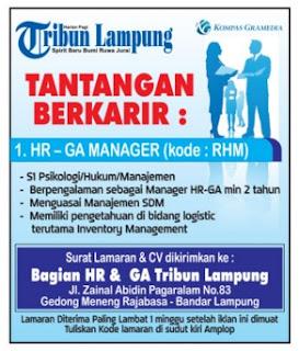 Lowongan Kerja TRIBUN LAMPUNG November 2015 TERBARU