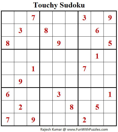 Touchy Sudoku (Fun With Sudoku #143)