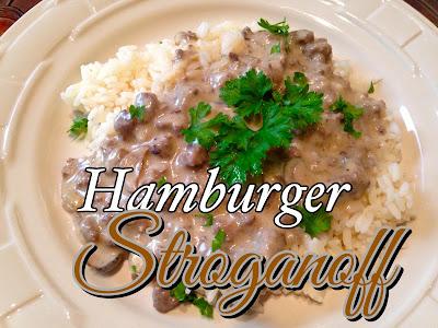 Hamburger Stroganoff…….