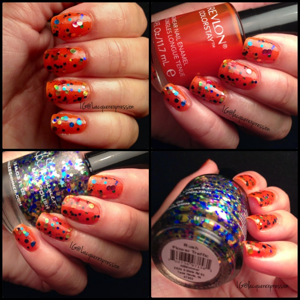 revlon colorstay sunburst kbshimmer rush hour flower jelly sandwich manicure