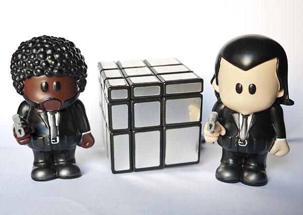 Mirror Blocks Rubik Cube Pulp Fiction Jules Winnfield and Vincent Vega