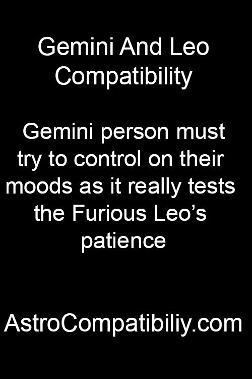 Gemini woman and leo man compatibility