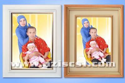 Download Frame Kayu Warna Putih dan Kuning