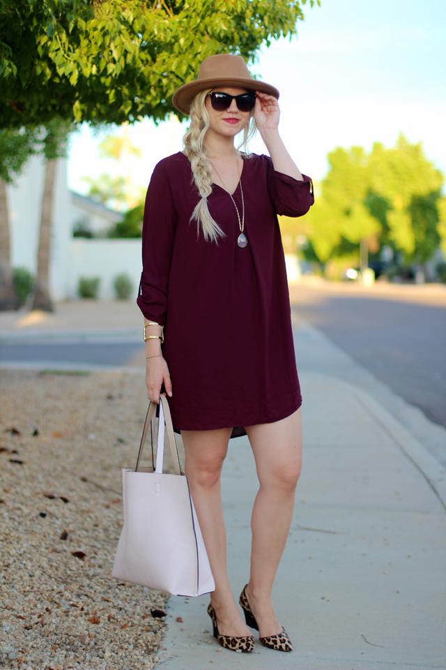 Wearing: Lush U0027Karlyu0027 Dress (comes In 6 Colors!) | Sole Society U0027Juliu0027  Wedge C/o | Forever 21 Hat | Nordstrom Reversible Tote | Margaret Elizabeth  U0027Ellau0027 ...
