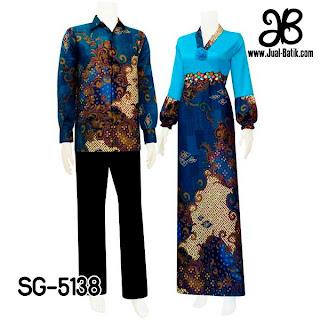 Gamis Batik Couple Semi Sutera