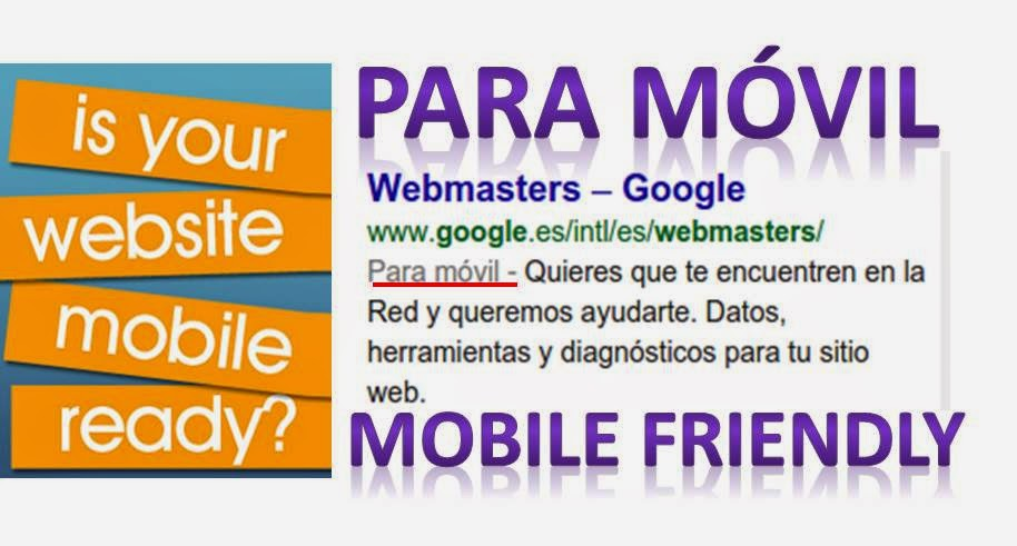 Para móvil, #mobilefriendly