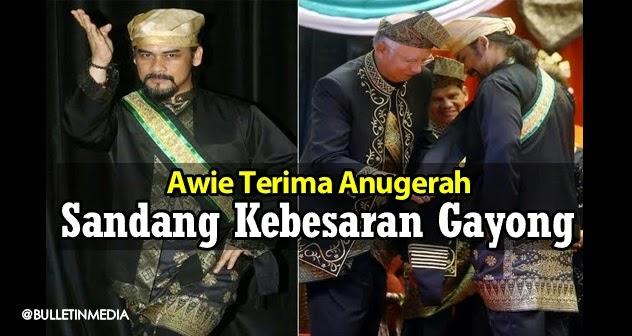 Awie Terima Anugerah Sandang Kebesaran Gayong