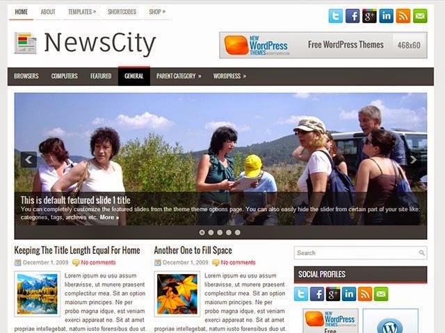 NewsCity - Free Wordpress Theme
