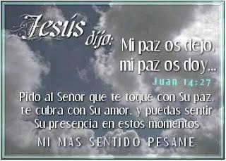 Tarjetas con Frases de Pesame, parte 1