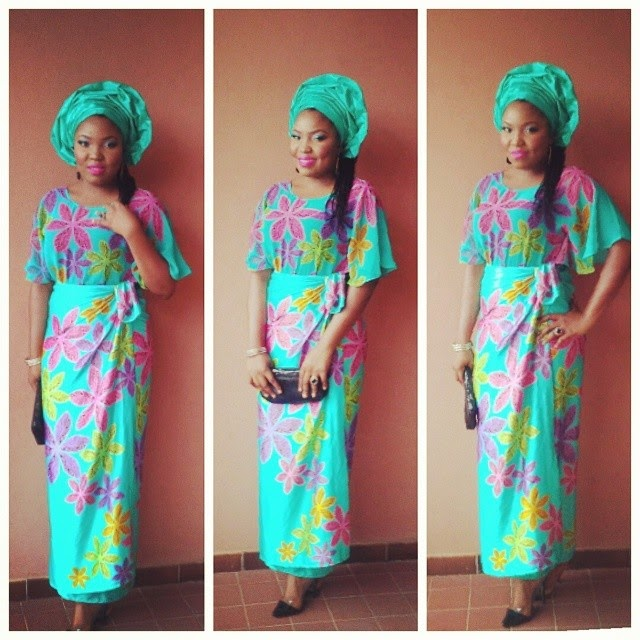 Sasha P in Silk and Chiffon Butterfly Buba and Iro