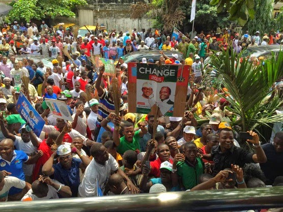 Mammoth Crowd at Buhari's Rally in Lagos