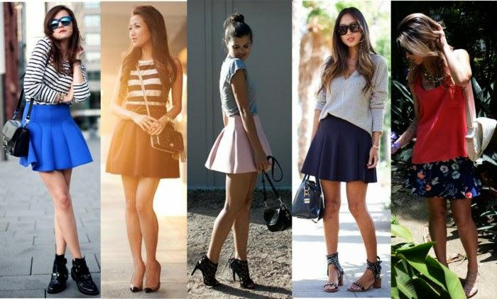 Saia Neoprene-modelo de saia-modelos de saias-saias da moda-saia de neoprene-saias neoprene-saias femininas-saias de neoprene-saia preta-saia rodada-saia-sino-saias curtas-saia curta-roupas-femininas-moda verão 2015-neoprene-looks em neoprene-look com saia-Neoprene Skirt