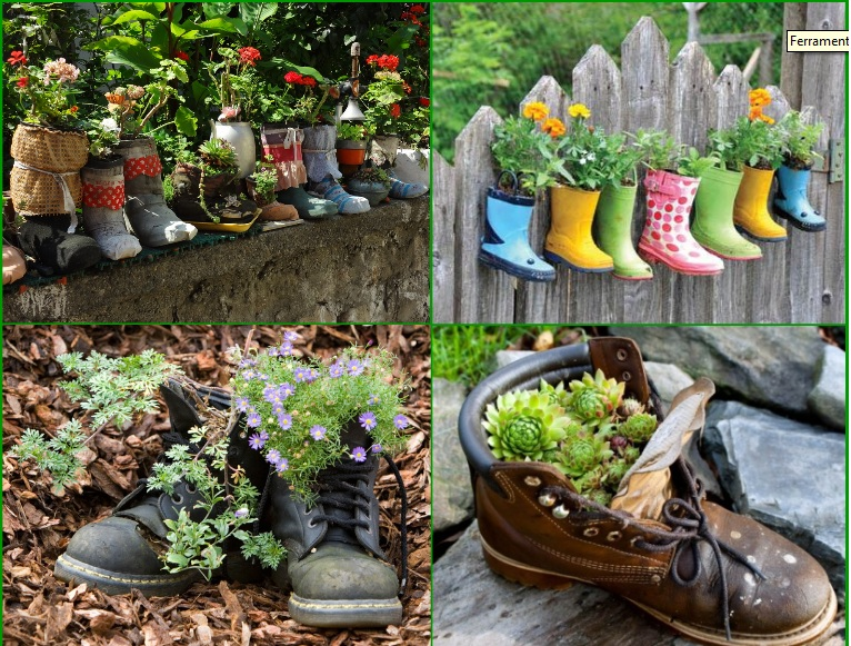 Diy garden ideas idees and solutions for Homemade garden decorations