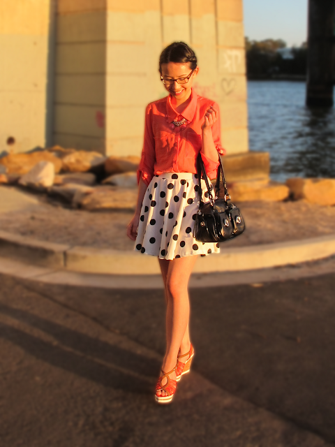 {Being Flippy} Tweed and polka dot