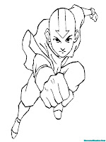 Mewarnai Gambar Pukulan Avatar Aang
