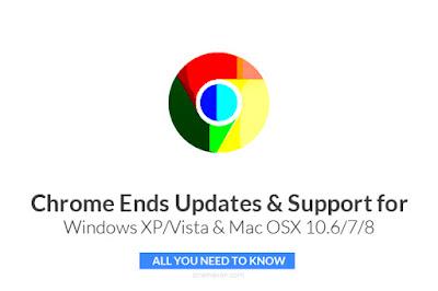 chrome ends support windows xp vista