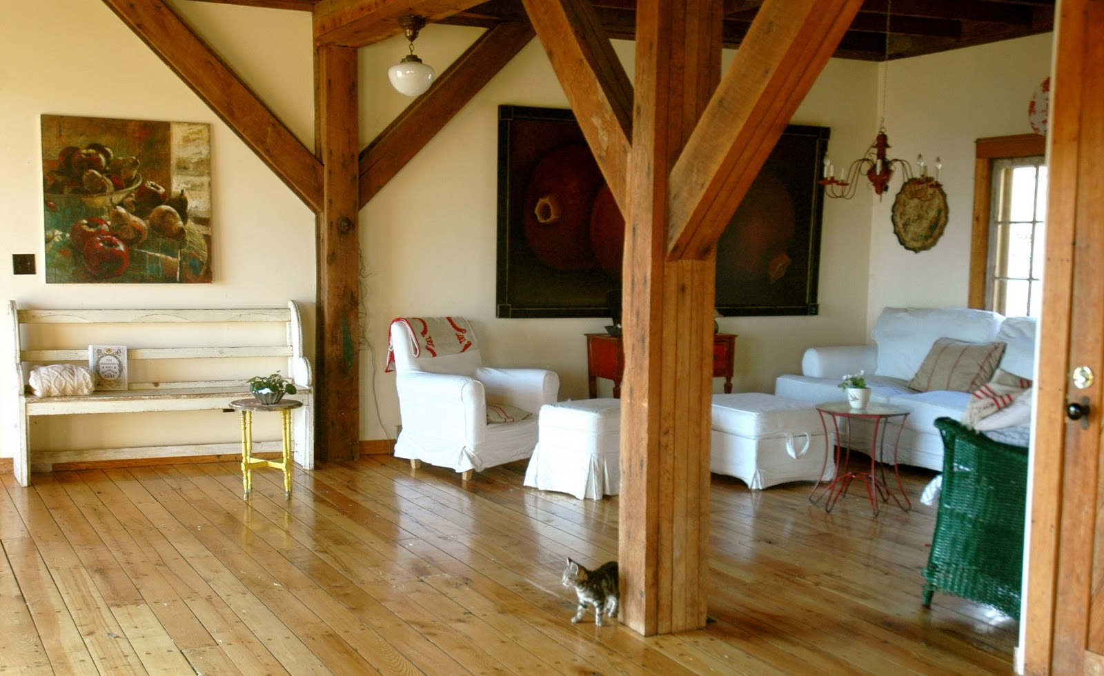 Stephmodo real life home a converted barn in vermont for Converting a pole barn into living space