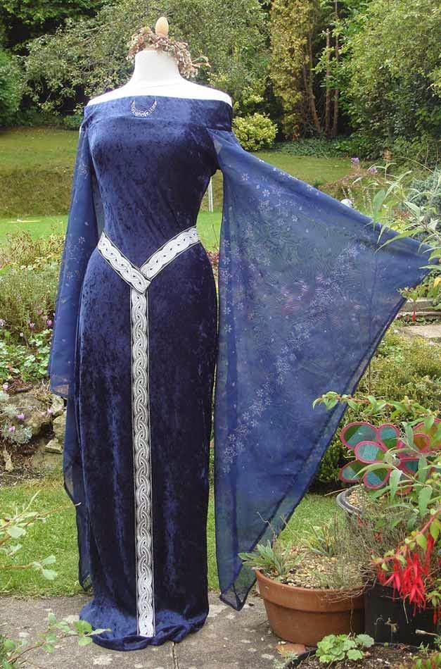 Irish Blue Celtic Wedding Dresses Design pictures hd