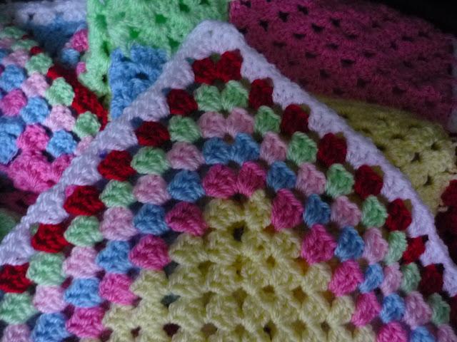 Cath Kidston style granny square blanket