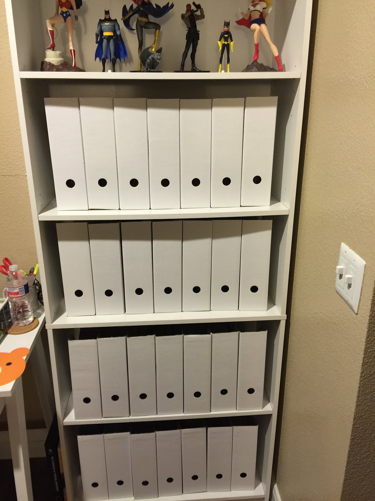 Easy crafting with kayla creative comic book storage for Comic book box shelves
