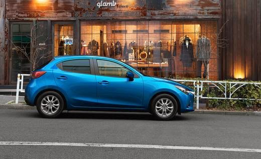 Blue 2016 Mazda Demio