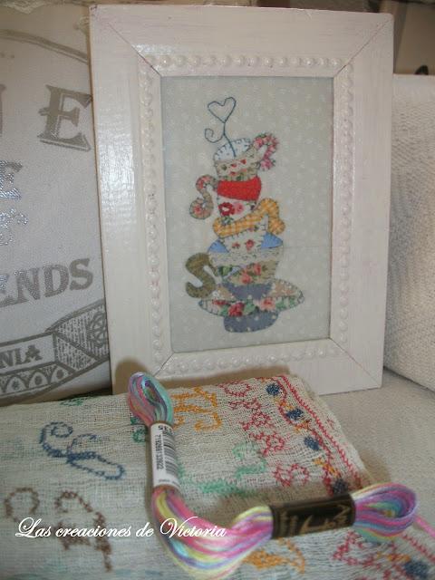 Las creaciones de Victoria. Patchwork. Mini quilt sweet mistery.
