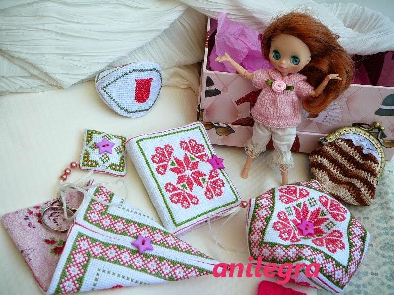 3c0487273db74 Anilegra moda para muñecas  Mis nuevas joyas de costura en punto de cruz